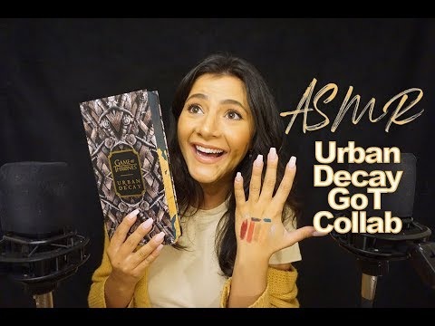 ASMR Urban Decay | Game of Thrones Makeup Collection (FIXED AUDIO)