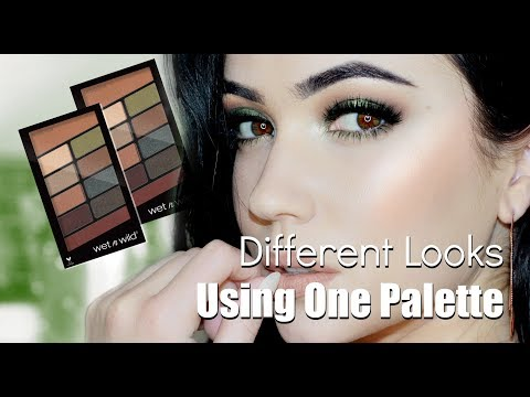 Eye Makeup Tutorial | 1 Palette 2 Looks | WetnWild Comfort Zone Palette
