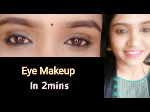 தமிழில் 2 mins Celebrity like Eye makeup Look