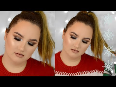 GLITTERY SMOKEY EYES MAKEUP TUTORIAL