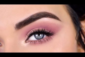 Soft Rose Gold Festival Eye Makeup Tutorial | Huda Beauty Nude Palette + Deck of Scarlet
