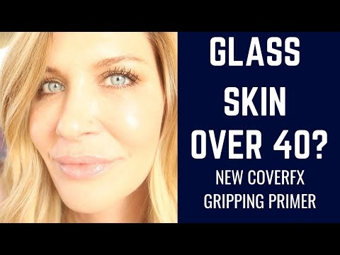 NEW CoverFX Gripping Primer | Glass Skin Over 40? | Demo | Wear Test | Luxury Makeup