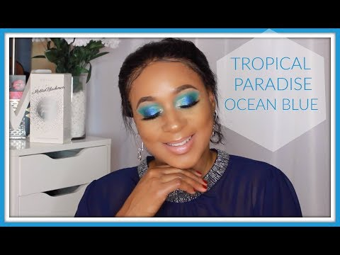OCEAN BLUE Tropical Paradise Eyeshadow Tutorial | Collaboration Beauty Over 40