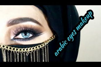 Arabic Eyes Makeup  || Testing new makeup _ zainab numan