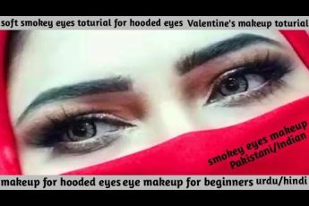 Soft smokey eyes makeup toturial for hooded eyes | Valentine's day makeup || NH Xtyle