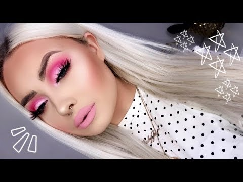 Soft Barbie Pink Monochrome Makeup Tutorial