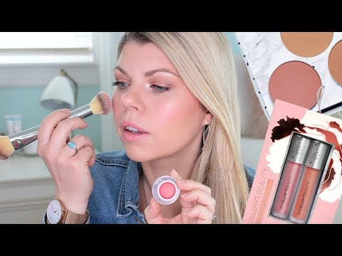 ORGANIC MAKEUP TUTORIAL! New Fitglow Beauty Spring Collection!