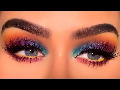 GALAXY EYES MAKEUP TUTORIAL | Carli Bybel
