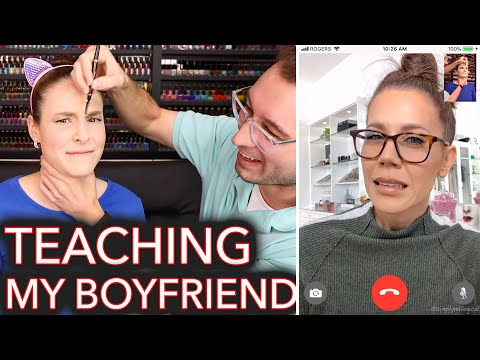 Beauty Guru Teaches My Boyfriend How to Do My Makeup ft. Tati