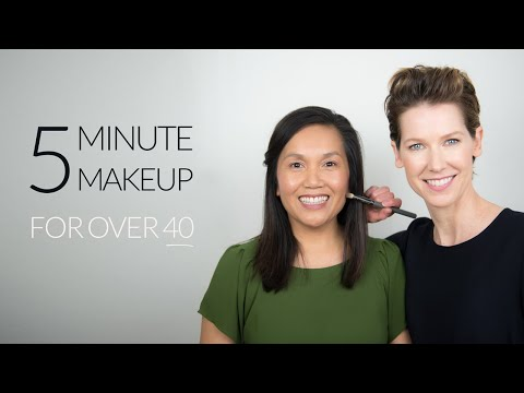 Simple 5 Minute Makeup Tutorial Using Green Beauty | Over 40 [ad]