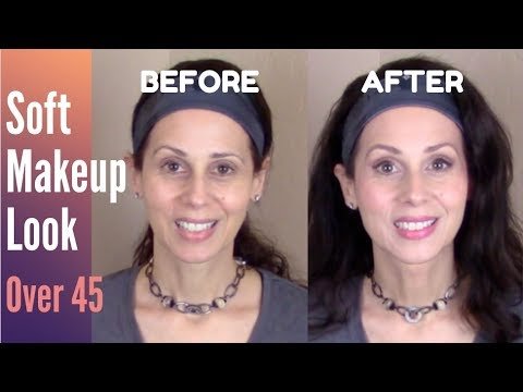 Soft  Makeup Look-Over 40/50-Before & After Anti-aging