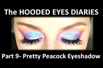 BRIGHT COLORS EYE SHADOW TUTORIAL?COLORFUL EYE SHADOW TUTORIAL?HOODED EYES MAKEUP TUTORIAL