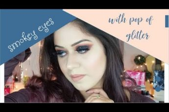 SPARKLY BLACk SMOKEY EYES Makeup Tutorial
