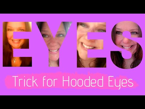 Hooded Mature Droopy Eyes Makeup Tip Trick Tutorial – Open up your Eyes!