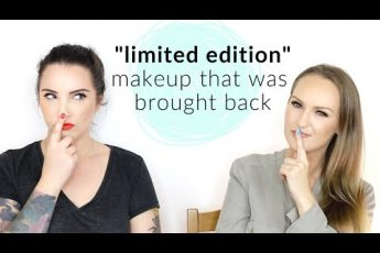 "Thoughts on ""limited edition"" makeup that was re-released 