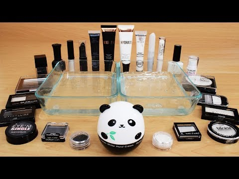 Black vs White – Mixing Makeup Eyeshadow Into Slime! Special Series 75 Satisfying Slime Video