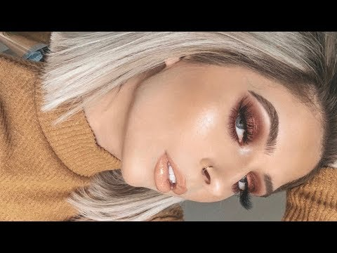 Easy Burgundy Smokey Eye Makeup Tutorial | Jess Helfrich