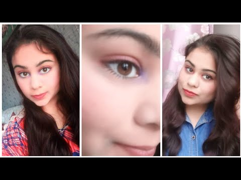 2 PINK EYESHADOW LOOKS. VERY SIMPLE PINK EYE MAKEUP TUTORIAL. EASY MAKEUP FOR BROWN EYES.