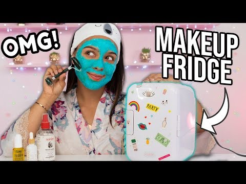 Beauty Busters: I Tried a Makeup/Skincare FRIDGE! (AMAZING!)