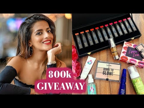 Celebrating 800K Subs!!! | Huge Beauty/Makeup Giveaway 2019 | Best Beauty Products | Knot Me Pretty