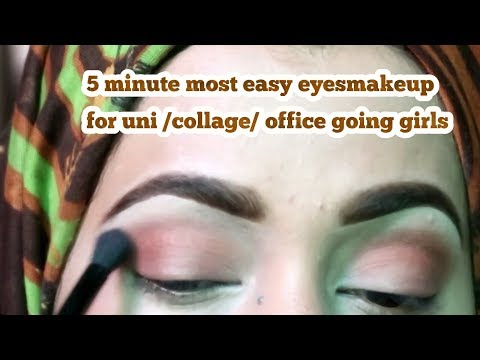 MOST EASY 5 MINUTE SUMMER EYES MAKEUP TUTORIAL_zainab numan