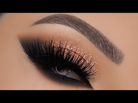 Glitter + Cat Smokey Eyes Makeup Tutorial | Melissa Samways