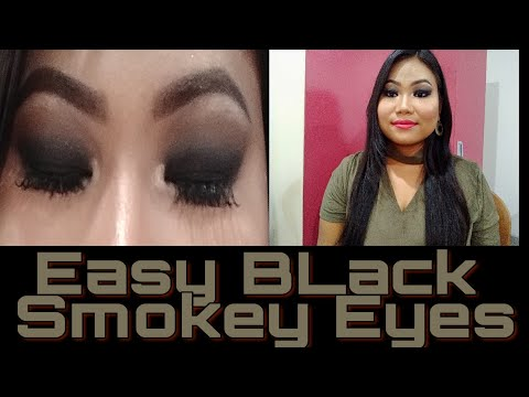 Easy Black Smokey Eyes Makeup Tutorial || Eid Makeup Tutorial 2019 ||