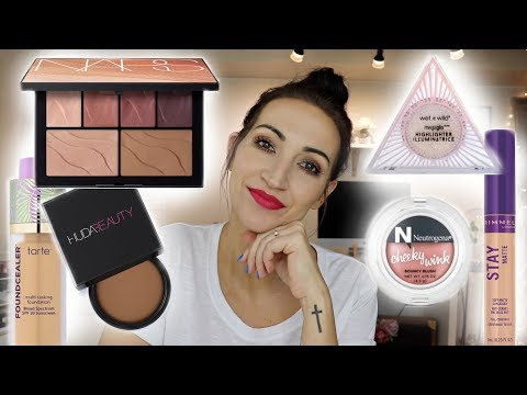GRWM TRYING NEW PRODUCTS | NEUTRAL EYES & HOT PINK LIPS