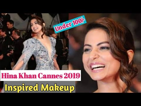 Hina Khan Cannes 2019 Inspired Makeup Under 100/- l Beautiful U