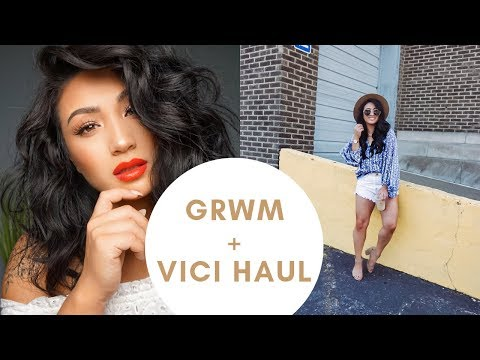 GRWM + Vici Haul || Spicy Red Lip X Bronze Eyes
