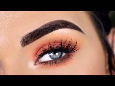 Easy Summer Eye Makeup Tutorial | Huda Beauty Coral Obsessions Palette