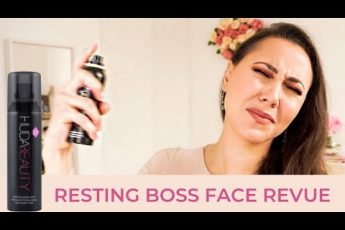 Resting Boss Face : Huda Beauty makeup fixer spray revue