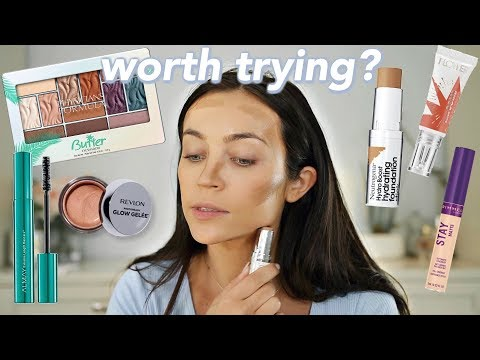 GRWM + New DRUGSTORE makeup: Cream Products + First Impressions 🤔