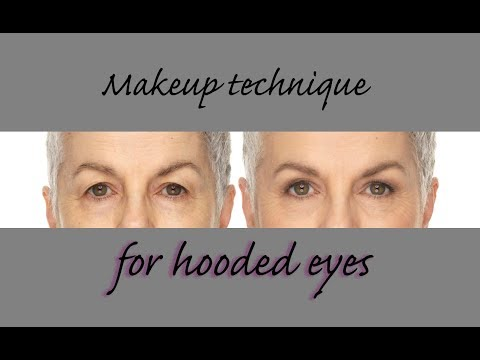 Hooded Eyes – simple makeup techniques for mature, hooded eyes