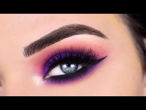 ABH X Alyssa Edwards Palette | Matte Purple Eye Makeup Tutorial