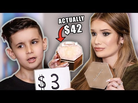 LITTLE BROTHER GUESSES MAKEUP PRICES! … so cute lol