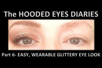 MAKEUP for HOODED EYES | EASY WEARABLE soft EYE SHADOW | HOODED EYES MAKEUP | GLITTERY EYE LOOK