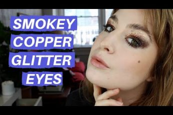 WEARABLE EDITORIAL COPPER GLITTER SMOKEY EYES | Hannah Louise Poston | MY BEAUTY BUDGET