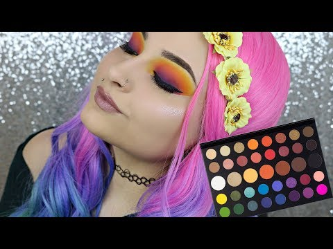 Sunset Eyes Makeup Tutorial Using The James Charles Palette By Morphe Bright makeup Tutorial