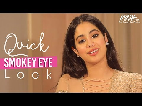 Get Ready With Janhvi Kapoor | Glam Smokey Eye Makeup Tutorial | Nykaa