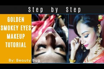 Golden Smokey Eye Makeup in hindi | Party Makeup Tutorial | Stylish Party Wear Makeup