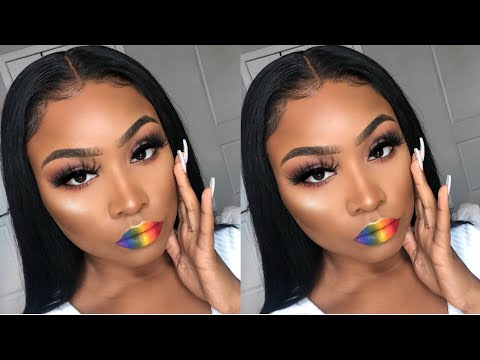PRIDE-INSPIRED MAKEUP SLAY | NEUTRAL EYES & BOLD RAINBOW LIPS