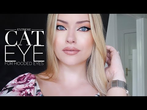 Extreme cat eye for hooded eyes | Makeup by Myrna
