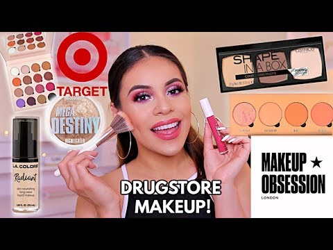 TESTING NEW DRUGSTORE MAKEUP: FULL FACE FIRST IMPRESSIONS / HITS + MISSES! | JuicyJas