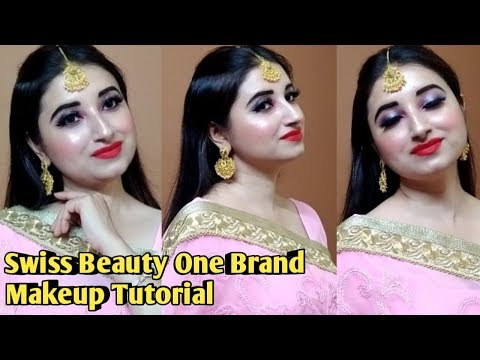 Swiss Beauty One Brand Makeup Tutorial l Beautiful U