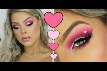 Valentines Day HEART eyes makeup tutorial | Valerie pac