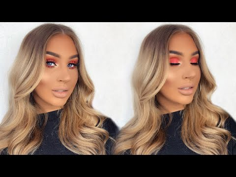 ILUVSARAHII X COLOURPOP THROUGH MY EYES PALETTE | CORAL SUMMER EYES MAKEUP TUTORIAL