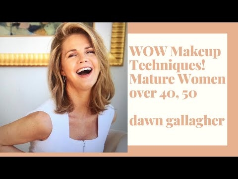 Makeup Techniques for Mature Women! Over 40, 50!