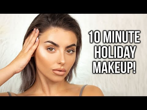 10 MINUTE EASY SUMMER / SWEATPROOF MAKEUP TUTORIAL! NO FOUNDATION + FLUFFY BROWS! AD