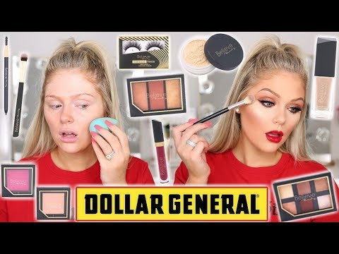 FULL FACE OF DOLLAR STORE MAKEUP | TESTING NEW DOLLAR GENERAL MAKEUP